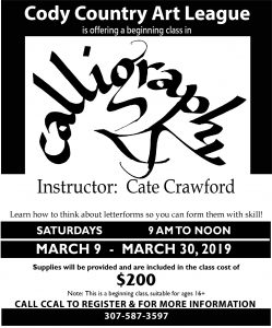 Calligraphy Class in Cody! – CATE CRAWFORD STUDIO